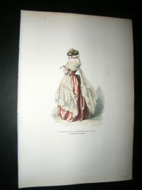 Grandville des Animaux 1842 Hand Col Print. The Elegant Animal